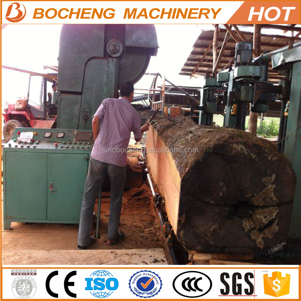 wood band saw machinery vertical band sawmill with CNC carriage