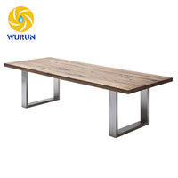 Wide Flat Stainless Steel Table Furniture