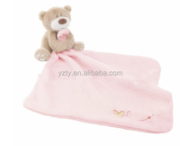 Meet testing standard mini cute bear plush hanky