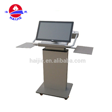 Adjustable aluminum Teaching equipment smart lectern digital podium with 27monitor for multimedia classroom HJ-27D