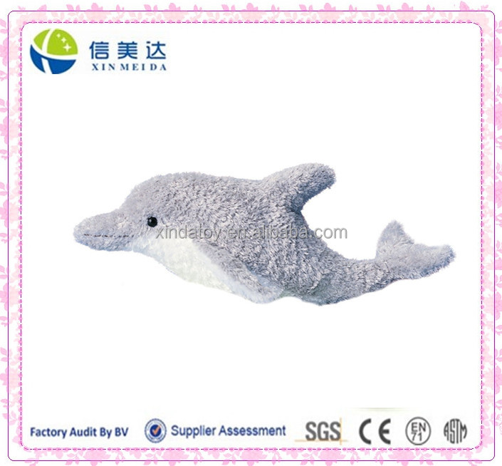 Party Promotional Sale Cheap Gray Plush Dolphin Toy