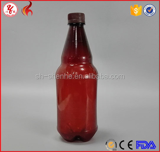 1 litre new design wine pet penang plastic drinking stubby wholesale beer bottle