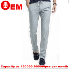 bamboo fiber fabric soft breathable mens casual pants