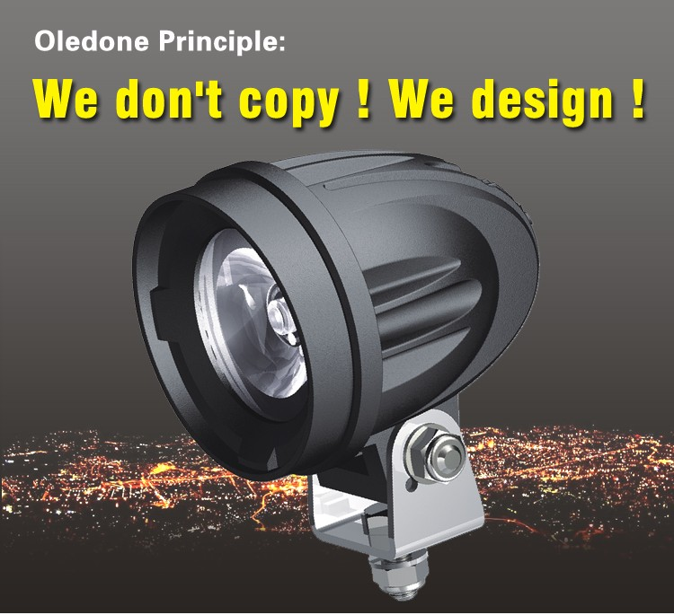 "Factory direct offer Oledone 2.4"" 10W E-MARK approve motorbike dirtbike scooter ATV SUV offroad racing automotive led work light"