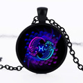 jewelry making supplies 12 constellations Pisces gem necklace pendant