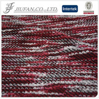 Jiufan Textile New Pattern Acrylic Polyester Fabric High Quality Knit Hacci Fabric for Sweater