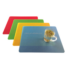 Colorful thin Plastic FDA REACH standard washable Chopping Mat Kitchen Cutting Board