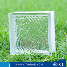 Clear Sea Wave Pattern Glass Block / Brick