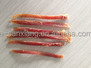 chicken and duck strips/slices dog treats