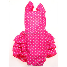 hot pink white polka dots baby carter's baby bubble romper