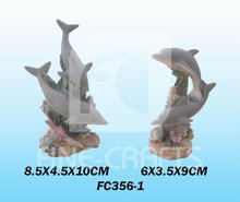 Resin aquarium ornament fish tank dolphin