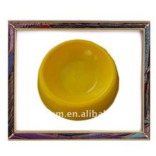 2012 new fashion yellow round atoxic melamine pet bowl for dogs, dog bowl,pets bowl