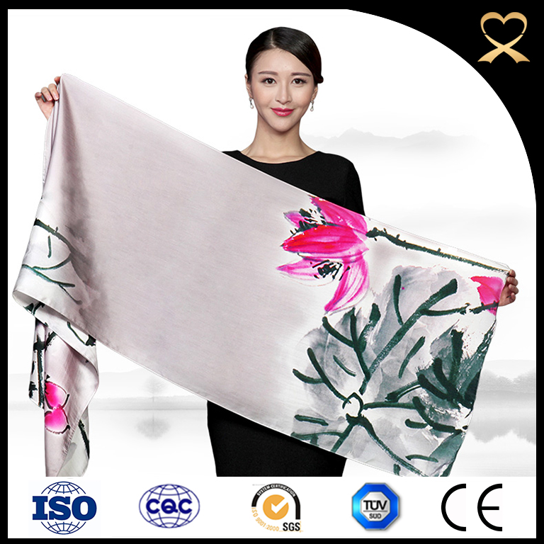 Girls party dresses thai silk scarf women hija lotus scarfs wholesale white silk factory in hangzhou silk chiffon scarf