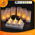 2017 New 6pcs LED tea light candles wholesale Rechargeable tea light candle