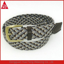 2017 Factory price mix color customized woven plus size men elastic stretch canvas belt