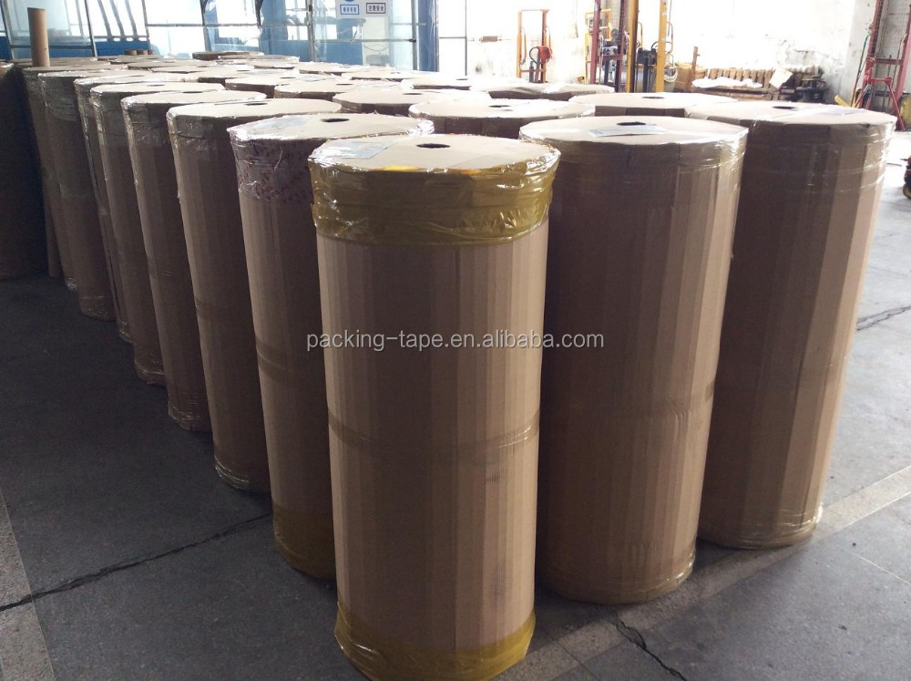 36mic bopp acrylic golden packing jumbo roll tape