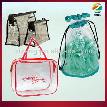 clear pvc cosmetic bag portable shampoo bag