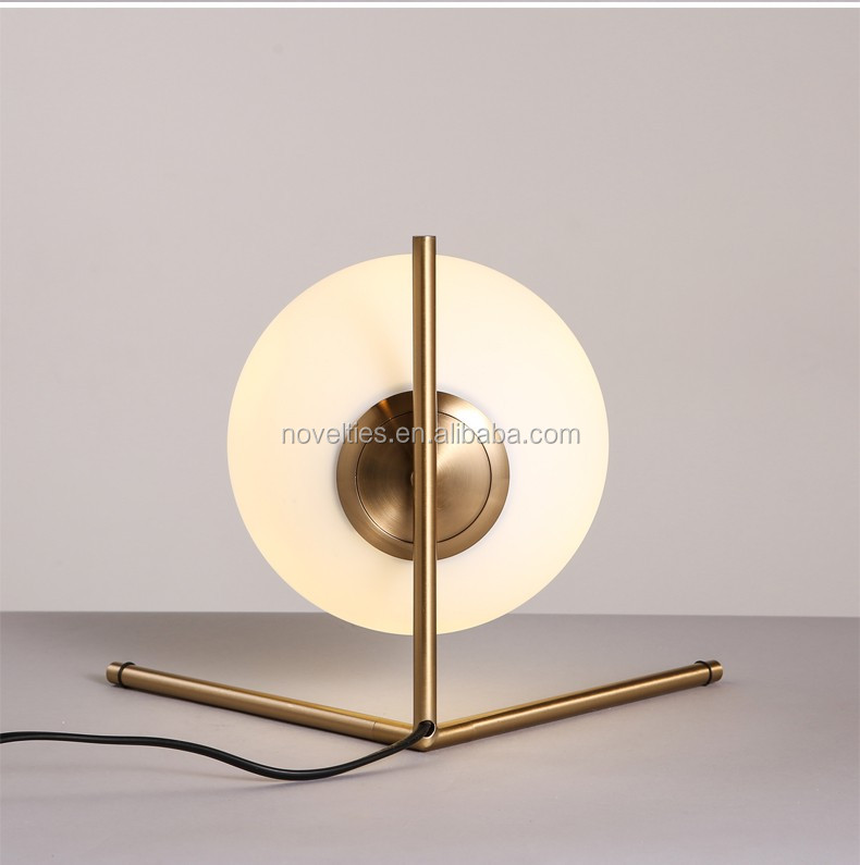 2016 nordic style golden glass table lamp simple desk lamps