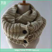 new women knit infinity scarf wholesale with button