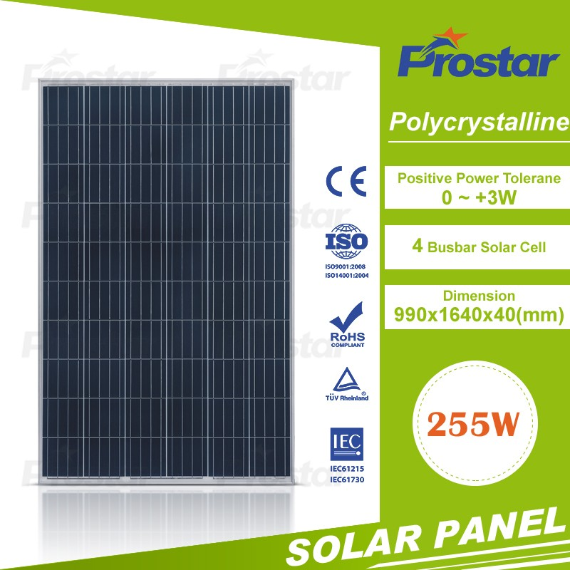 4BB Pv Module Poly 240w 250w 255w Solar Panel Manufacturers In China Cheap