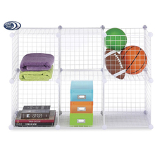 Modular Cube Shelving Grids, Metal Wire Storage Cubes Organizer, Cabinet 6 - Regular Grids
