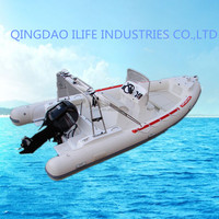 22.3ft/6.8m best price Korea pvc material inflatable rib boat for sale
