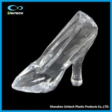 Fashionable OEM plastic high heel shoe craft For Crystal Crafts