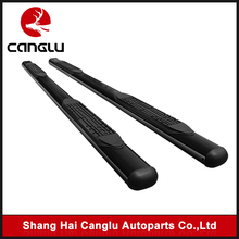 "4"" Oval Black Carbon Steel C/S Side Step Nerf Bar Running Boards Pickup Truck Pair"