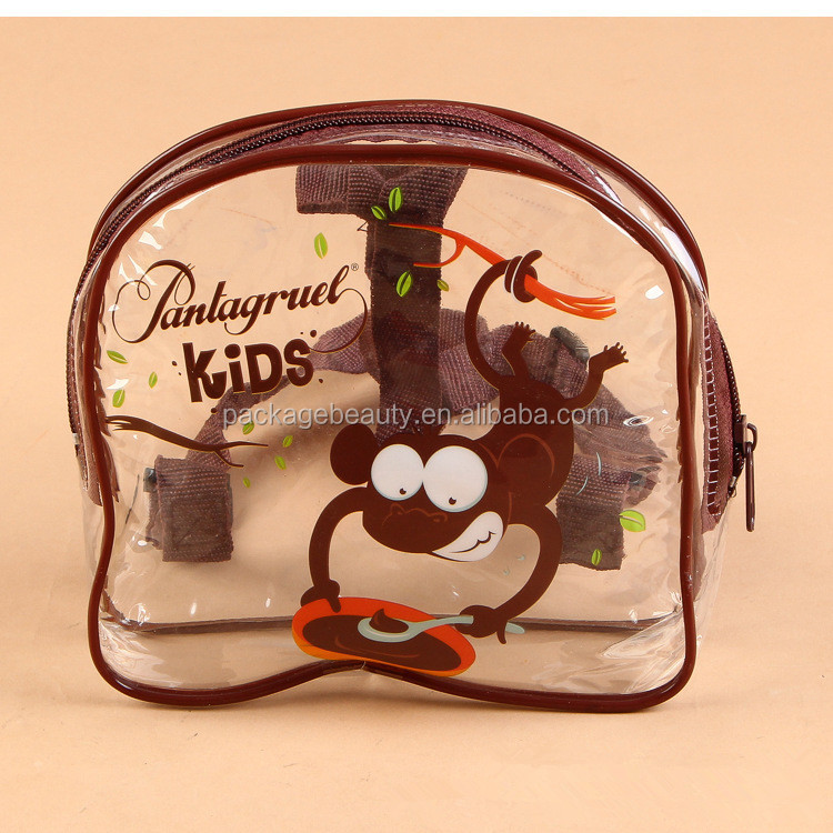 Custom design sports kids transparent colored clear plastic PVC backpack