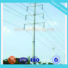 hot dip galvanization,double circuit steel power pole for electrical transmission
