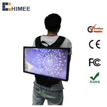 widescreen lcd monitor portable backpack lcd video advertising led display 19inch