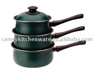 6pcs nonstick carbon steel sauce pan set