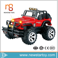 New design electric kids toy 1:12 cross-country rc car with music and light