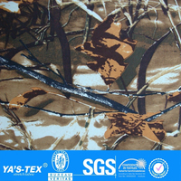 Brown Camouflage Forest Print 4 Way Stretch Polyester Spandex Lycra Waterproof Fabric Wholesale For Men's Garment