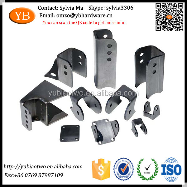 Custom Sheet Metal Suspension Steel Guide Bracket Fabrication