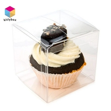 Square Cake Clear PP Food Packaging Plastic Pillow Shaped Gift Box