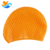 professional No print / Nude color waterdrop swim cap for women long hair