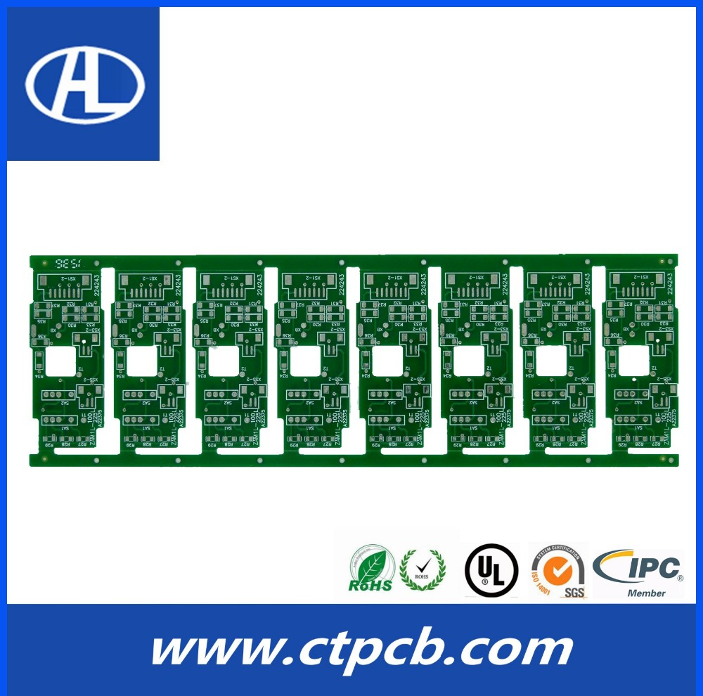 high quality quick turn white solder mask single sided pcb tab terminal