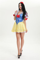 wholesales sexy Ladies Womens fancy dress short snow white princess costume