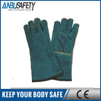 New design best selling leather welding glove for wholesales