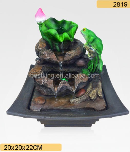 Big Gnome Resin Outdoor Waterfall Table Water Fountain Decoration