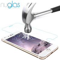 Trade insurance! 9H super hard clear gold tempered glass screen protector for iphone6