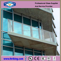 clear 4mm tempered glass for sunroom with CE certificates