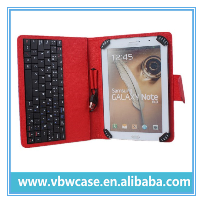 8 inch tablet pc case with keyboard , 8 inch keyboard case for android tablet