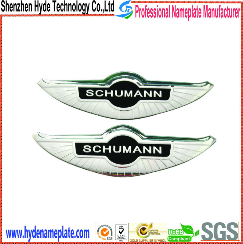 custom die casting ABS car emblem, car decoration vinyl sticker