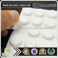 clear black white anti-slip pad rubber feet with adhesive back