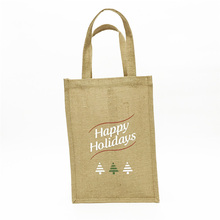 Eco-friendly custom logo jute bag burlap jute wine bag wholesale