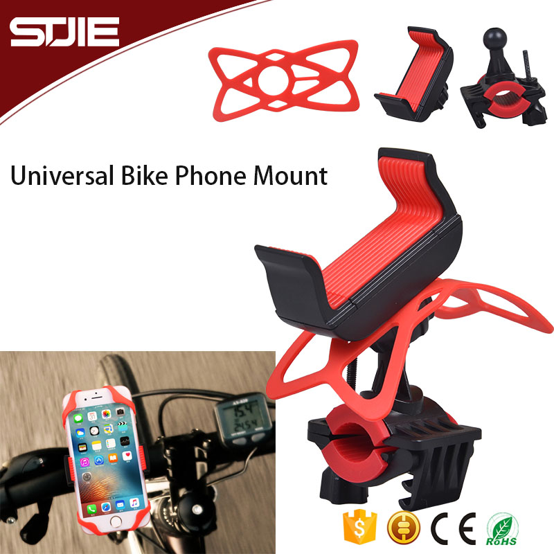 Customized Motocycle Bicycle Stand Bike Mount Mobile Phone Holder for Most Smart Phone
