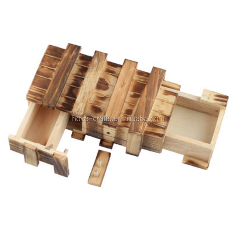New Creative Compartment Magic Wooden Puzzle Box Puzzle Wooden Secret Trick Magic Tricks