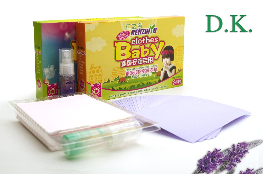 Wholesale household washing Laundry Detergent Sheets for baby